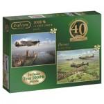Jumbo-11135 2 Puzzles - 40th Anniversary Heroes