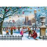 Puzzle  Jumbo-11185 Vic McLindon - Festive Skaters