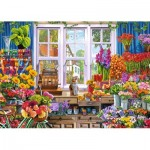 Puzzle  Jumbo-11196 Steve Crisp - Flora's Flower Shoppe