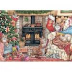 Puzzle  Jumbo-11239 Christmas Cats