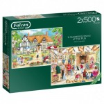 Jumbo-11242 2 Puzzles - Summer Evening at The Pub