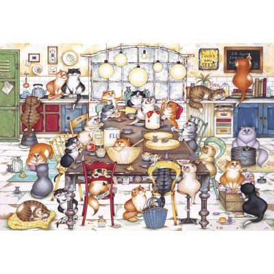 Puzzle Gibsons-G2712 Pièces XXL - Cat's Cookie Club