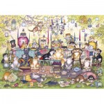 Puzzle  Gibsons-G2717 Pièces XXL - Mad Catter's Tea Party