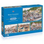 Gibsons-G5023 4 Puzzles - Terry Harrison : West Country