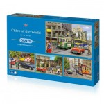 Gibsons-G5044 4 Puzzles - Kevin Walsh - Cities of The World