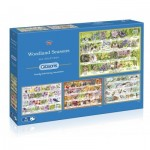 Gibsons-G5048 4 Puzzles - Woodland Seasons