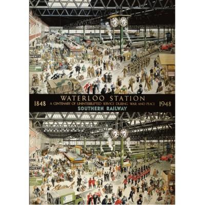 Puzzle Gibsons-G604 100 ans de la gare de Waterloo 1848 - 1948