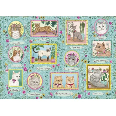 Puzzle Gibsons-G6603 Famous Felines