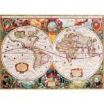 Puzzle  Gold-Puzzle-60096 Vieille Carte du Monde