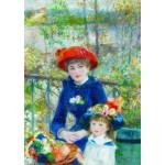 Puzzle  Gold-Puzzle-60386 Renoir Auguste: Deux Soeurs sur la Terrasse