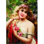 Puzzle  Gold-Puzzle-60515 Emile Vernon : Jeune Femme à la Rose