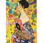 Puzzle  Gold-Puzzle-60522 Klimt Gustav : La Dame à l'Eventail
