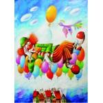 Puzzle  Gold-Puzzle-60577 Yuri Macik: Rêve de Clown