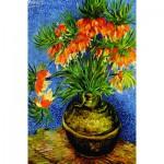 Puzzle  Gold-Puzzle-60911 Van Gogh: Fritillaires dans un Vase en Cuivre