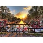 Puzzle  Gold-Puzzle-61543 Lever de Soleil à Amsterdam