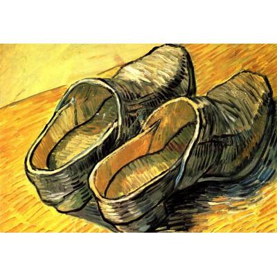 Puzzle Grafika-Kids-00013 Pièces XXL - Vincent Van Gogh : Une Paire de Sabots en Cuir, 1888