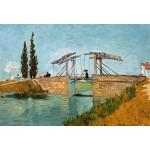 Puzzle  Grafika-Kids-00046 Pièces XXL - Van Gogh Vincent : Pont de Langlois en Arles, 1888