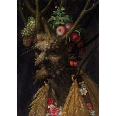 Puzzle Grafika-Kids-00050 Arcimboldo Giuseppe : Quatre Saisons en Une Tête, 1590