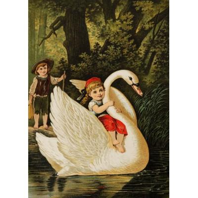 Puzzle Grafika-Kids-00114 Hansel et Gretel, illustration par Carl Offterdinger