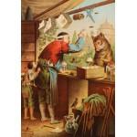 Puzzle  Grafika-Kids-00125 Pièces XXL - Carl Offterdinger : Le Loup et les sept Chevreaux