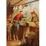 Puzzle  Grafika-Kids-00126 Carl Offterdinger : Le Loup et les sept Chevreaux