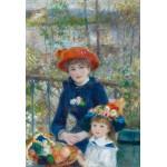 Puzzle  Grafika-Kids-00164 Pièces XXL - Auguste Renoir : Deux Soeurs sur la Terrasse, 1881