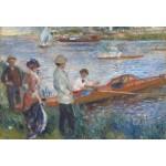 Puzzle  Grafika-Kids-00179 Pièces XXL - Renoir Auguste : Canoteurs à Chatou, 1879