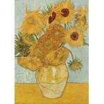 Puzzle  Grafika-Kids-00208 Pièces Magnétiques - Van Gogh Vincent : Vase avec douze tournesols, 1888