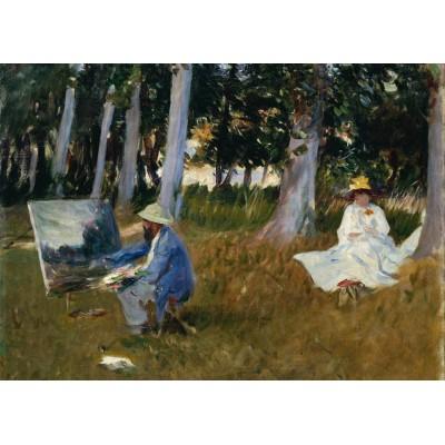 Puzzle Grafika-Kids-00233 Pièces Magnétiques - Claude Monet by John Singer Sargent, 1885