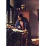 Puzzle  Grafika-Kids-00253 Pièces Magnétiques - Vermeer Johannes: Le Géographe, 1668-1669
