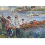 Puzzle  Grafika-Kids-00259 Pièces Magnétiques - Renoir Auguste : Canoteurs à Chatou, 1879