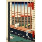 Puzzle  Grafika-Kids-00265 Pièces XXL - Utagawa Hiroshige : Rizières d'Asakusa et Festival Torinomachi, 1857
