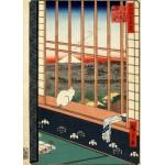 Puzzle  Grafika-Kids-00267 Pièces Magnétiques - Utagawa Hiroshige : Rizières d'Asakusa et Festival Torinomachi, 1857