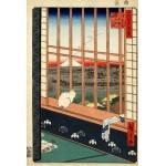 Puzzle  Grafika-Kids-00268 Utagawa Hiroshige : Rizières d'Asakusa et Festival Torinomachi, 1857