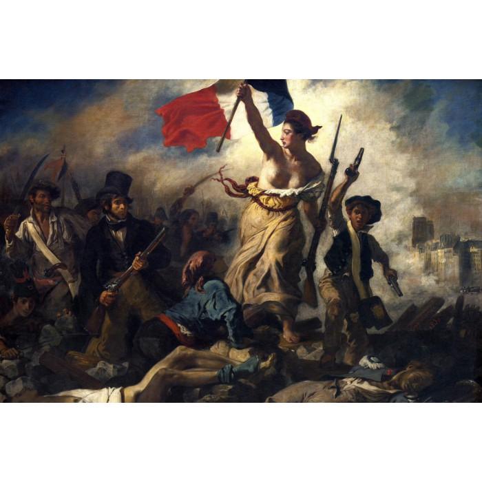 Delacroix Eugène : La Liberté Guidant le Peuple, 1830