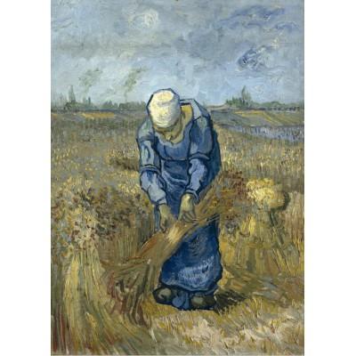 Puzzle Grafika-Kids-00300 Pièces Magnétiques - Vincent Van Gogh: Femme Paysan d'après Millet