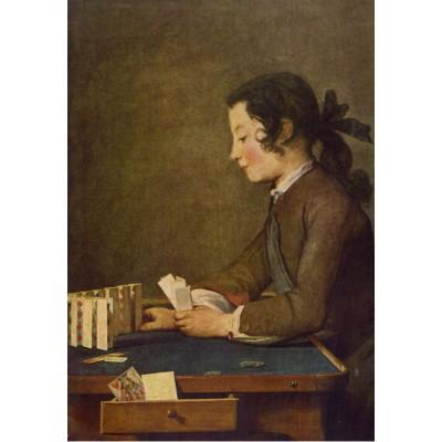 Puzzle Grafika-Kids-00310 Jean Siméon Chardin : Le Château de Cartes, 1737