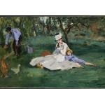 Puzzle  Grafika-Kids-00318 Edouard Manet : La Famille Monet dans leur Jardin à Argenteuil, 1874