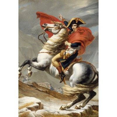 Puzzle Grafika-Kids-00353 Pièces XXL - Jacques-Louis David: Bonaparte franchissant le Grand Saint-Bernard, 20 mai 1800