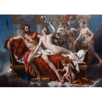Puzzle Grafika-Kids-00371 Jacques-Louis David: Mars désarmé par Vénus, 1824