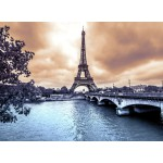 Puzzle  Grafika-Kids-00379 La Tour Eiffel par Temps de Pluie en Hiver