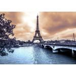 Puzzle  Grafika-Kids-00380 La Tour Eiffel par Temps de Pluie en Hiver