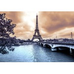 Puzzle  Grafika-Kids-00383 Pièces XXL - La Tour Eiffel par Temps de Pluie en Hiver