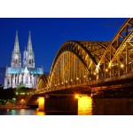Puzzle  Grafika-Kids-00394 Cathédrale et Pont Hohenzollern de Cologne