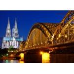 Puzzle  Grafika-Kids-00396 Cathédrale et Pont Hohenzollern de Cologne