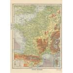 Puzzle  Grafika-Kids-00416 Carte de la France Physique - Larousse, 1925