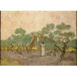 Puzzle  Grafika-Kids-00446 Pièces Magnétiques - Van Gogh Vincent : Femmes ramassant des Olives, 1889