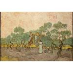 Puzzle  Grafika-Kids-00447 Pièces XXL - Van Gogh Vincent : Femmes ramassant des Olives, 1889