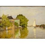 Puzzle  Grafika-Kids-00480 Claude Monet: Maisons sur le Achterzaan, 1871
