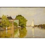 Puzzle  Grafika-Kids-00481 Claude Monet: Maisons sur le Achterzaan, 1871